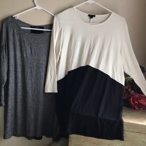2 J Jill Wear ever Collection Colorblock Rayon Top